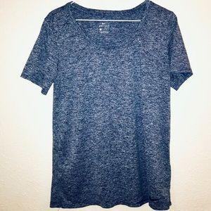 Nike Navy Heathered Dri-Fit T-Shirt size L